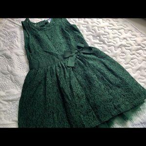 Carters Dark Green girls lace dress